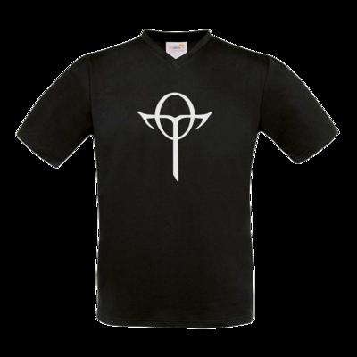 Motiv: T-Shirt V-Neck FAIR WEAR - Götter Symbol - Rahja