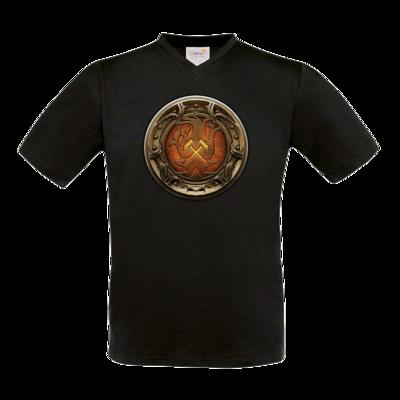 Motiv: T-Shirt V-Neck FAIR WEAR - Götter Siegel - Angrosch