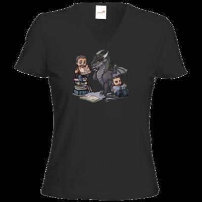 Motiv: T-Shirt Damen V-Neck Classic - Ulisses - Chibi - Vlog