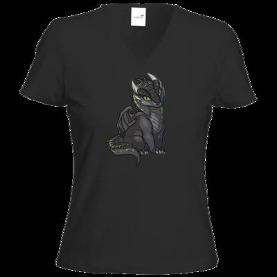 Motiv: T-Shirt Damen V-Neck Classic - Ulisses - Chibi