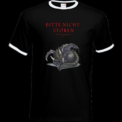 Motiv: T-Shirt Ringer - Ulisses - Bitte nicht stören