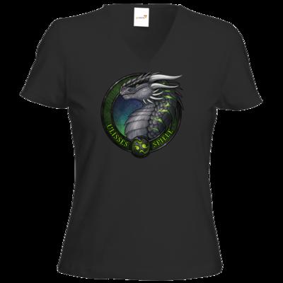 Motiv: T-Shirt Damen V-Neck Classic - Ulisses - Logo Ulisses-Spiele