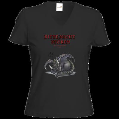 Motiv: T-Shirt Damen V-Neck Classic - Ulisses - Bitte nicht stören