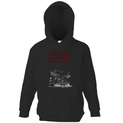Motiv: Kids Hooded Sweat - Ulisses - Kunden fressen verboten