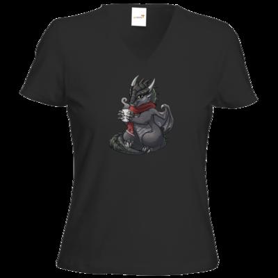 Motiv: T-Shirt Damen V-Neck Classic - Ulisses - Chibi - Weihnachtsmotiv 1