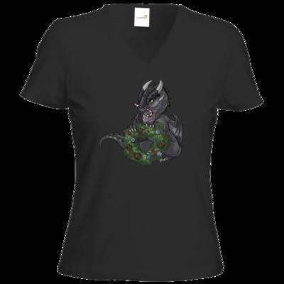 Motiv: T-Shirt Damen V-Neck Classic - Ulisses - Chibi - Weihnachtsmotiv 2