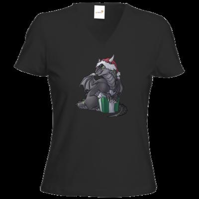 Motiv: T-Shirt Damen V-Neck Classic - Ulisses - Chibi - Weihnachtsmotiv 3