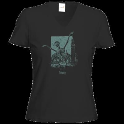 Motiv: T-Shirt Damen V-Neck Classic - HeXXen - Totentanz