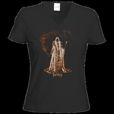 Motiv: T-Shirt Damen V-Neck Classic - HeXXen - Hexenkönigin