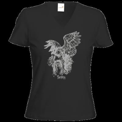 Motiv: T-Shirt Damen V-Neck Classic - HeXXen - Harpyie