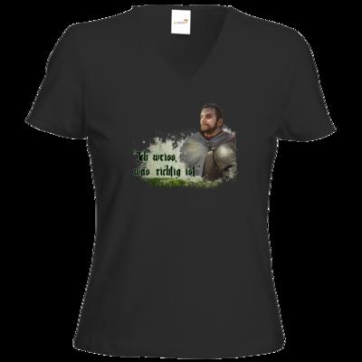 Motiv: T-Shirt Damen V-Neck Classic - HeXXen - Balthasar
