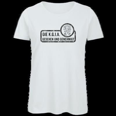 Motiv: Organic Lady T-Shirt - Sprüche - KGIA - Gesehen und genehmigt