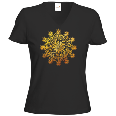 Motiv: T-Shirt Damen V-Neck Classic - Götter - Bund des wahren Glaubens -Symbol