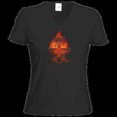 Motiv: T-Shirt Damen V-Neck Classic - Götter - Ingerimm - Symbol
