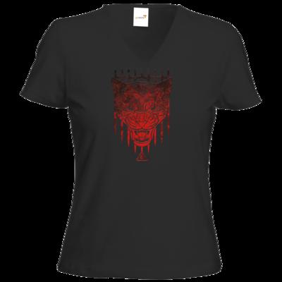 Motiv: T-Shirt Damen V-Neck Classic - Götter - Kor - Symbol