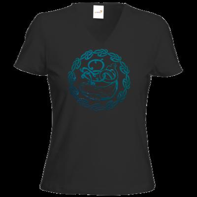 Motiv: T-Shirt Damen V-Neck Classic - Götter - Swafnir - Symbol