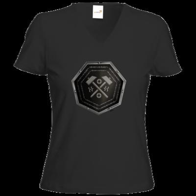 Motiv: T-Shirt Damen V-Neck Classic - Wappen - Xorlosch
