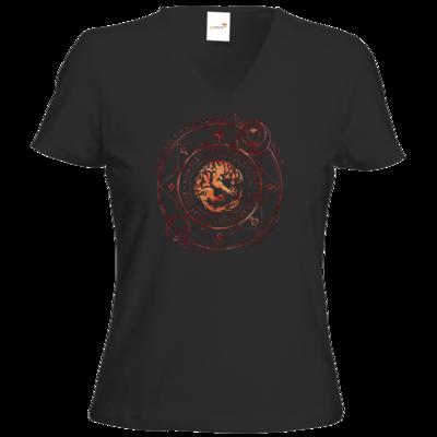 Motiv: T-Shirt Damen V-Neck Classic - Dämonen - Pandämonium
