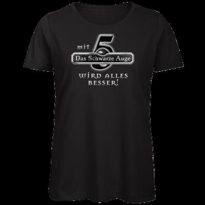 Motiv: Organic Lady T-Shirt - Sprüche - Mit DSA5 wird alles besser