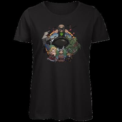 Motiv: Organic Lady T-Shirt - Let's Plays - Das Buch Der Abenteuer - Chibi