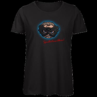 Motiv: Organic Lady T-Shirt - Let's Plays - Das Buch der Macht - Chibi - glow