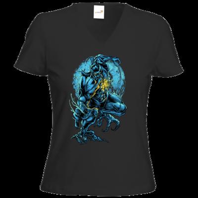 Motiv: T-Shirt Damen V-Neck Classic - angry