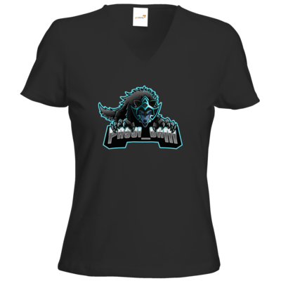 Motiv: T-Shirt Damen V-Neck Classic - Wolf