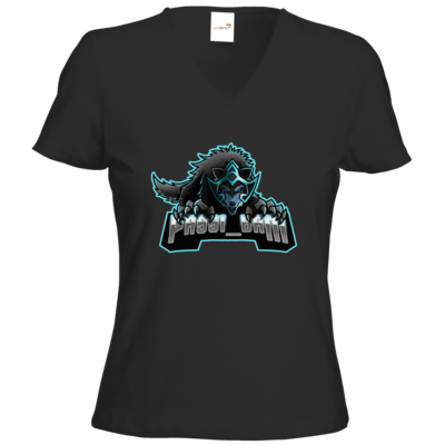 Motiv: T-Shirts Damen V-Neck FAIR WEAR - Wolf