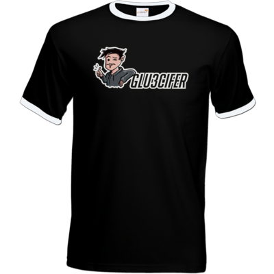 Motiv: T-Shirt Ringer - Logo Glu3cifer