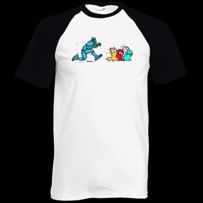 Motiv: TShirt Baseball - Pac-Man