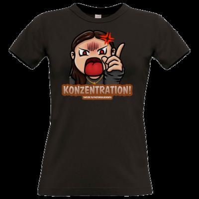Motiv: T-Shirt Damen Premium FAIR WEAR - Konzentration!