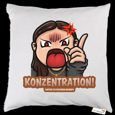 Motiv: Kissen - Konzentration!