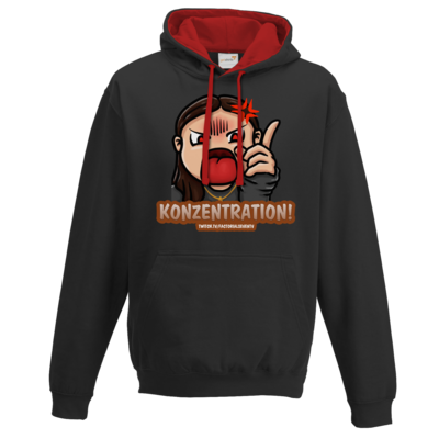 Motiv: Two-Tone Hoodie - Konzentration!