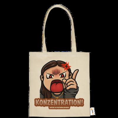 Motiv: Baumwolltasche - Konzentration!