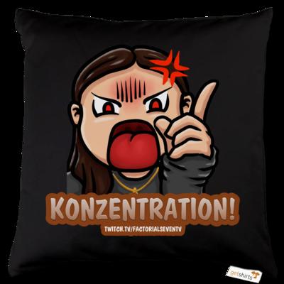 Motiv: Kissen Baumwolle - Konzentration!