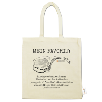 Motiv: Baumwolltasche - Definition Steak