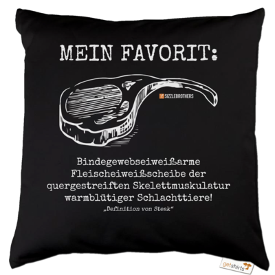 Motiv: Kissen Baumwolle - Definition Steak