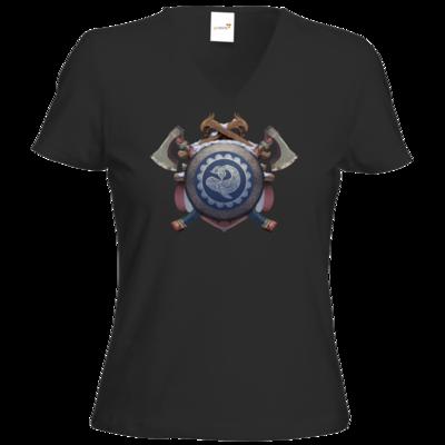 Motiv: T-Shirt Damen V-Neck Classic - Wappen - Thorwal
