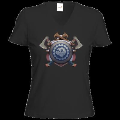 Motiv: T-Shirts Damen V-Neck FAIR WEAR - Wappen - Thorwal