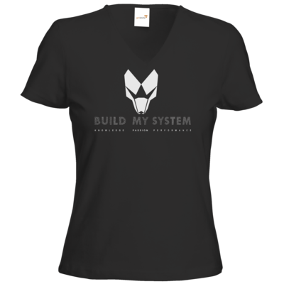 Motiv: T-Shirt Damen V-Neck Classic - BUILD MY SYSTEM