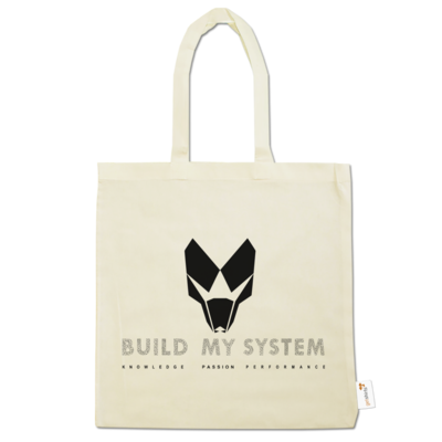 Motiv: Baumwolltasche - BUILD MY SYSTEM