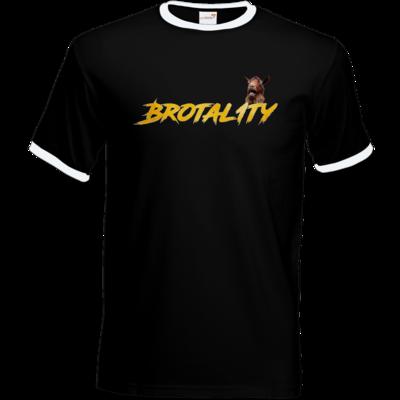 Motiv: T-Shirt Ringer - Brotal1ty Gold