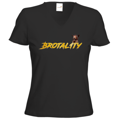 Motiv: T-Shirts Damen V-Neck FAIR WEAR - Brotal1ty Gold