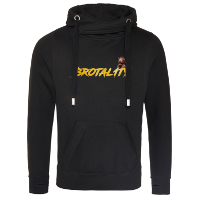 Motiv: Cross Neck Hoodie - Brotal1ty Gold