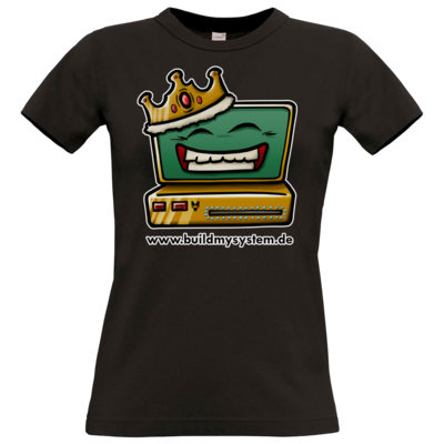 Motiv: T-Shirt Damen Premium FAIR WEAR - Build My System King