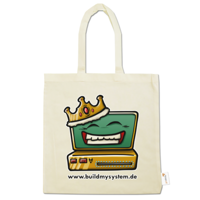 Motiv: Baumwolltasche - Build My System King