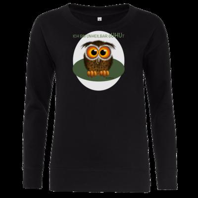 Motiv: Girlie Crew Sweatshirt - Unheilbar gUHUt