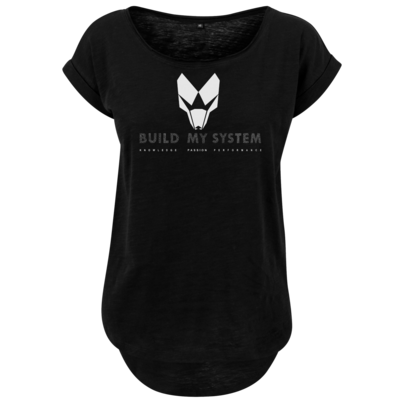 Motiv: Ladies Long Slub Tee - BUILD MY SYSTEM