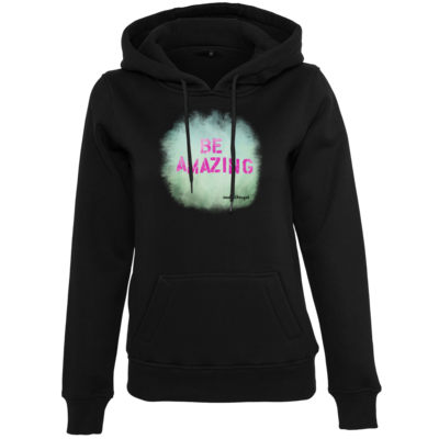 Motiv: Womens Heavy Hoody - Be Amazing