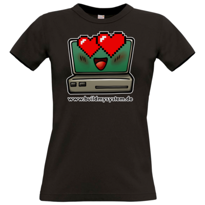 Motiv: T-Shirt Damen Premium FAIR WEAR - Build My System Love